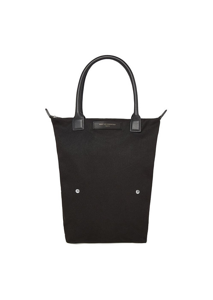 Orly Roll Tote Bag in Black