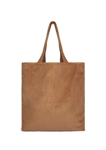 Everyday Cord Tote in Tan