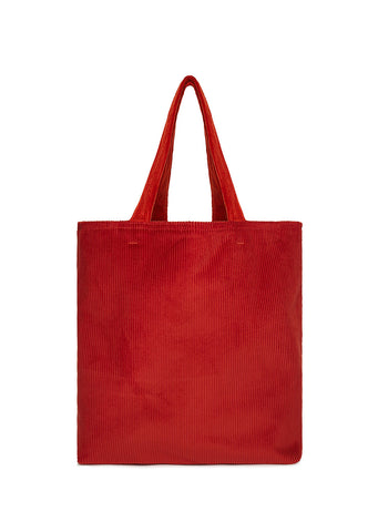 Everyday Cord Tote in Red