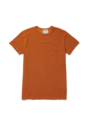 Towelling T-Shirt in Burnt Orange