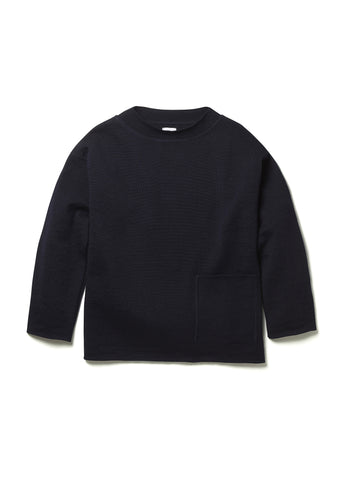 Knitted Fisherman's Smock in Navy