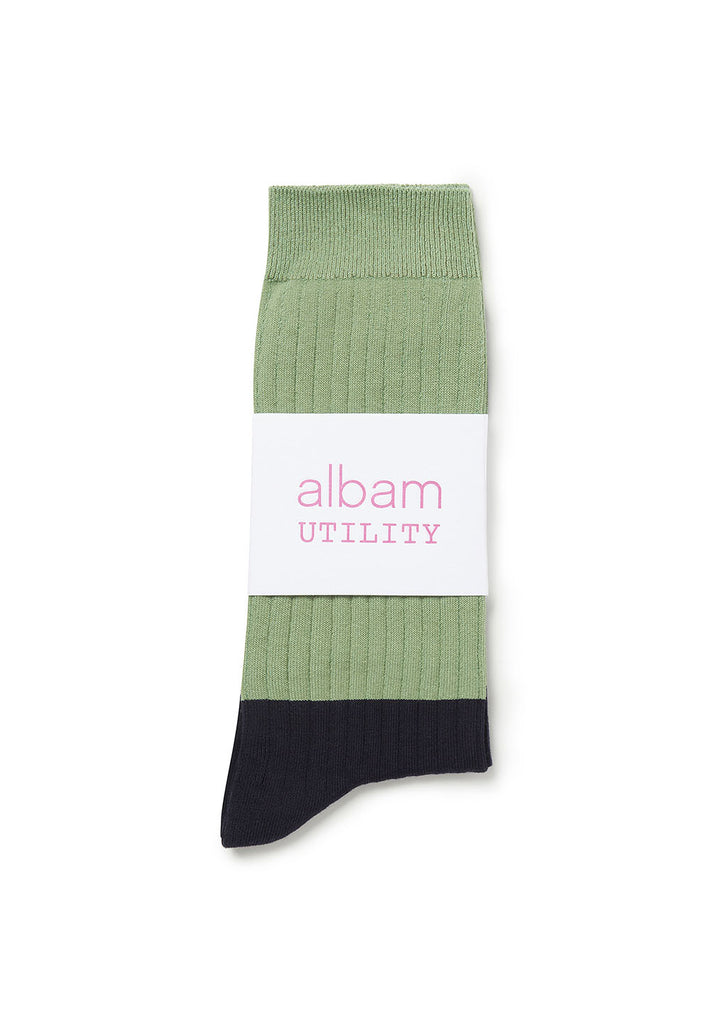 Utility Sock in Green Navy