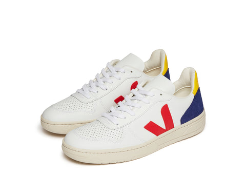 Veja V-10 in White Cobalt Yellow