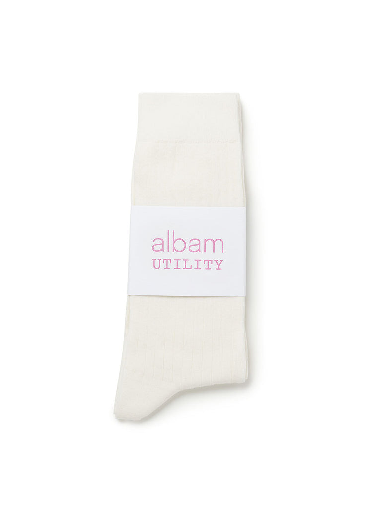 Utility Sock in White