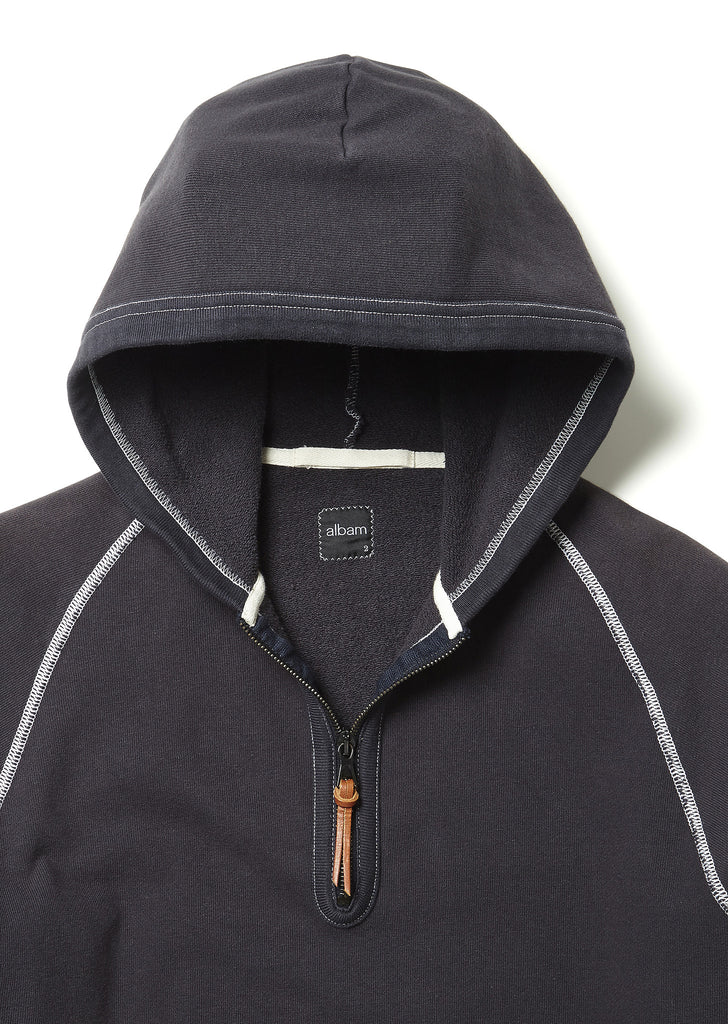 Half Zip Sweat in Navy