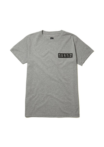 Braille Logo T-Shirt in Grey