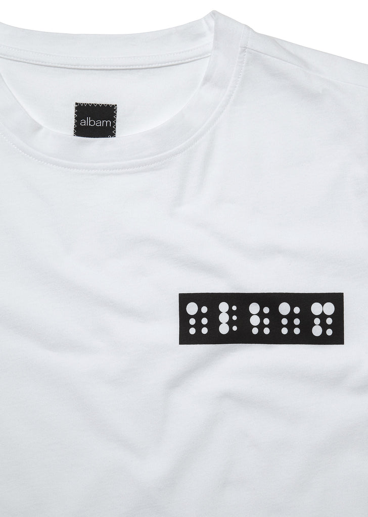 Braille Logo T-Shirt in White