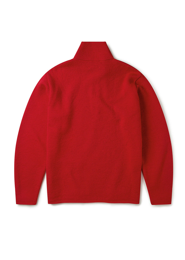 Milano Funnel Neck Pullover in Deep Red