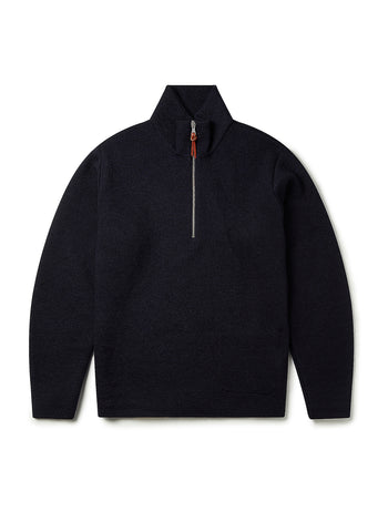 Milano Funnel Neck Pullover in Navy