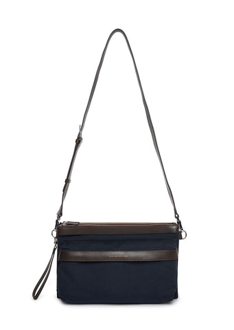 Want Les Essentials - Incheon Double Zip Folio in Navy