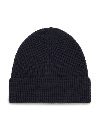 Cotton Beanie in Navy