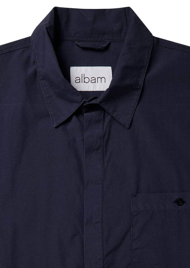 Apron Pocket Gardening Shirt in Rich Navy
