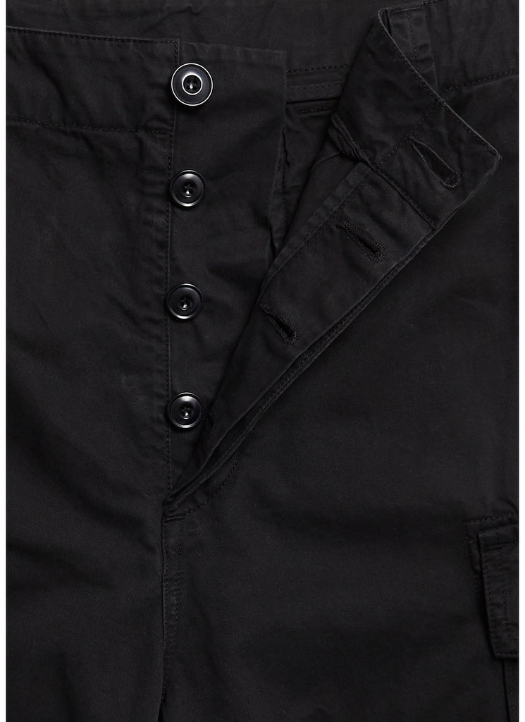 Loose Fitting Combat Trouser in Black