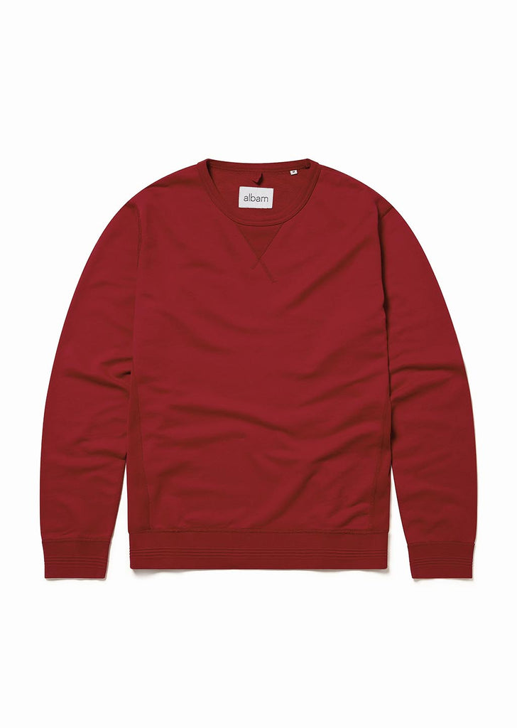 Classic Sweatshirt in Dark Red