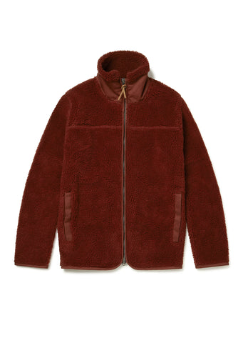 Combat Fleece Jacket in Burgundy