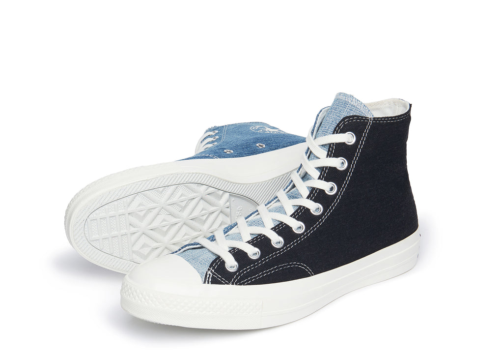 Chuck 70 Hi In Dark Denim/Light Denim/Egret