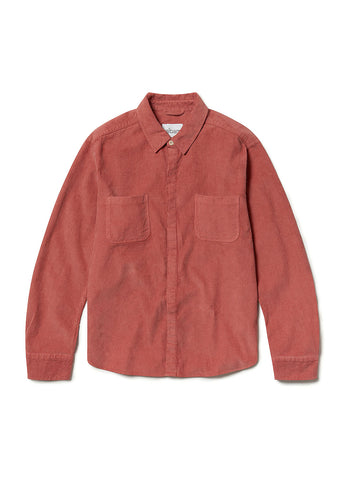 Cord Town Shirt in Dusty Cedar