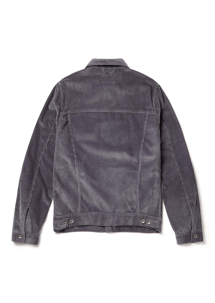 Cord Utility Jacket in Dark Grey
