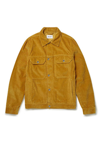 Cord Utility Jacket in Gold