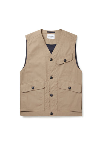 Flight Vest in Taupe