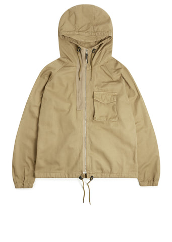Hennek Zip Through Parka in Sand