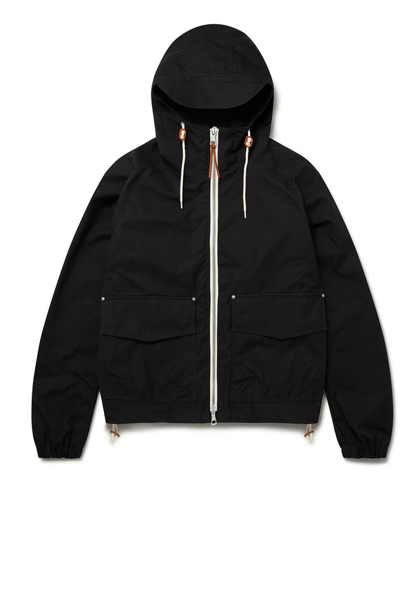 Waxed Hemingford Parka in Black