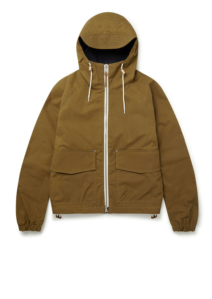 Waxed Hemingford Parka in Mustard