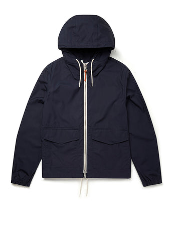Canvas Modern Cagoule in Navy