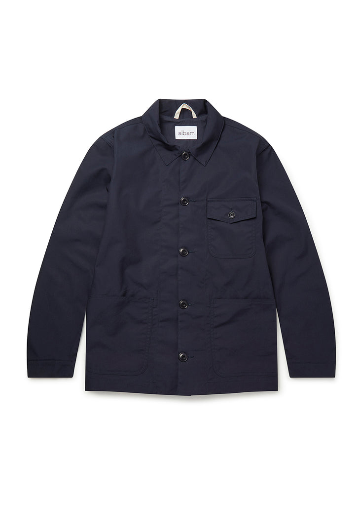 Canvas Rail Jacket in Navy