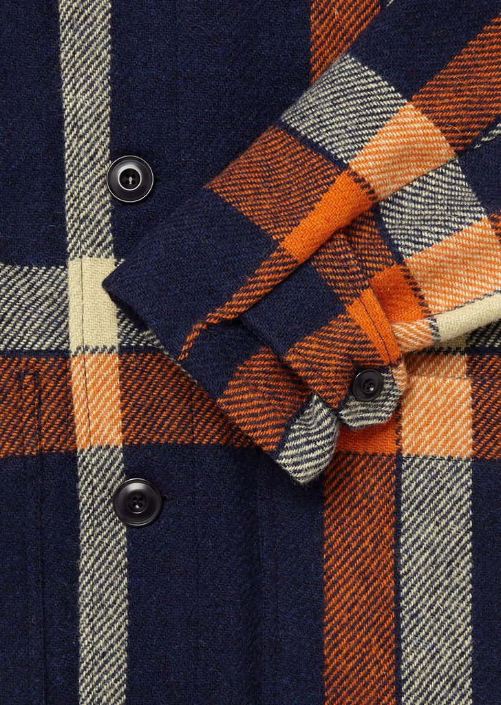 Harris Tweed Modern Duffle in Orange Check