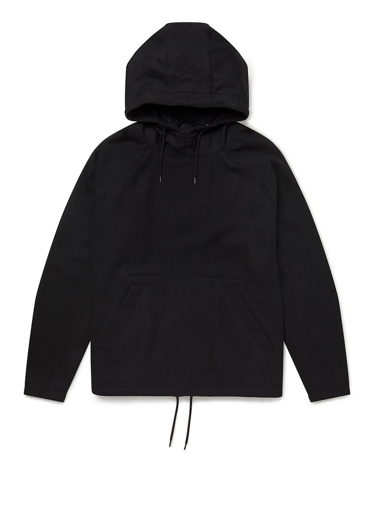 Wool Hoody in Black