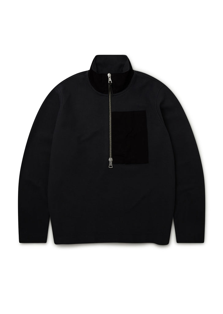 Sport Fleece Pullover in Black