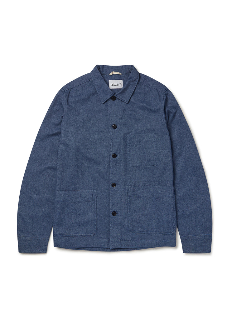 Flannel Chore Shirt in Blue