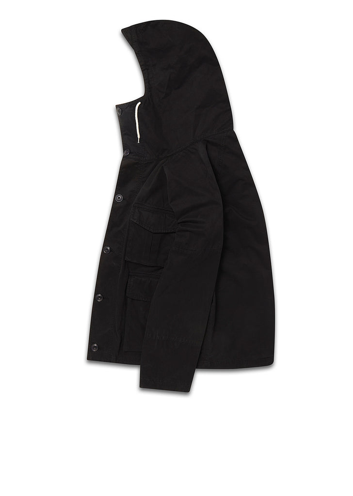 Military Parka In Black