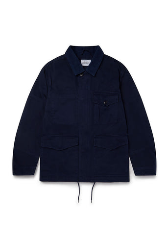Gd Twill Foundry Jacket in Navy