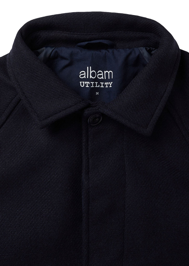 Utility Wool Foreman Jacket in Navy
