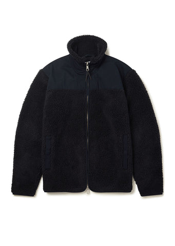 Combat Fleece Jacket in Navy