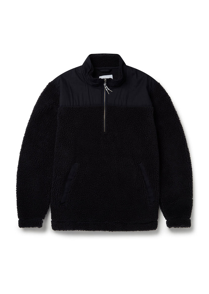 Causey Fleece Pullover in Navy
