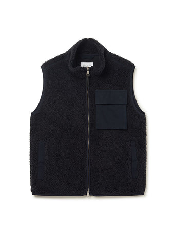 Combat Fleece Gilet in Navy