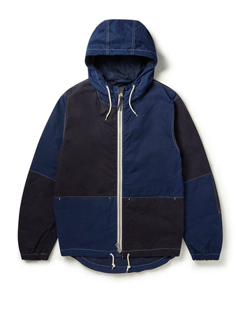 Zip Through Cagoule in Navy/Indigo
