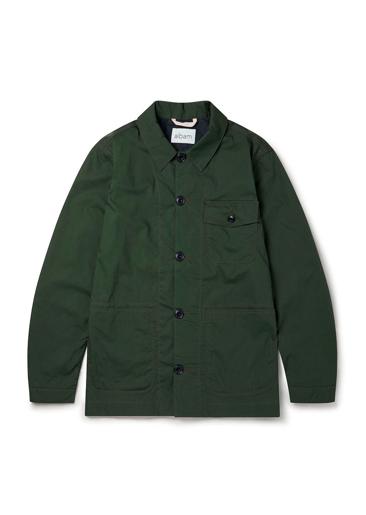 Cotton Ripstop Rail Jacket in Green