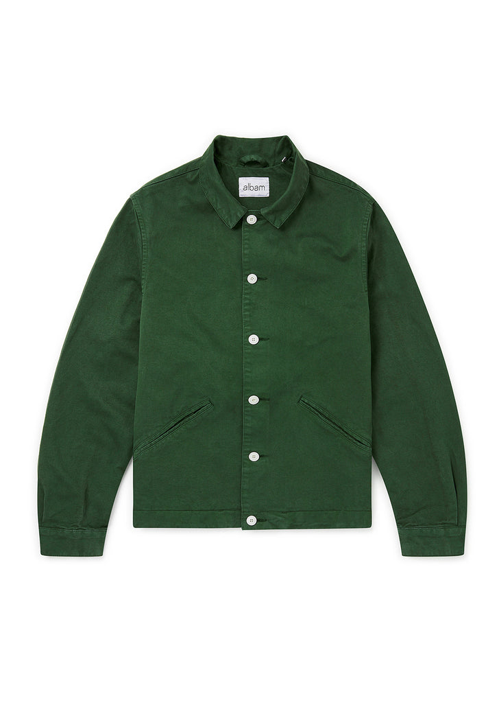 Garment Dyed Havana Jacket in Pine Green