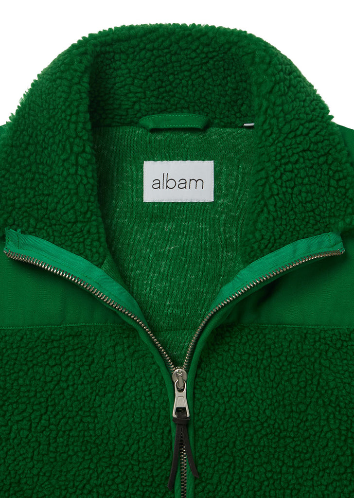 Combat Fleece Jacket in Bold Green