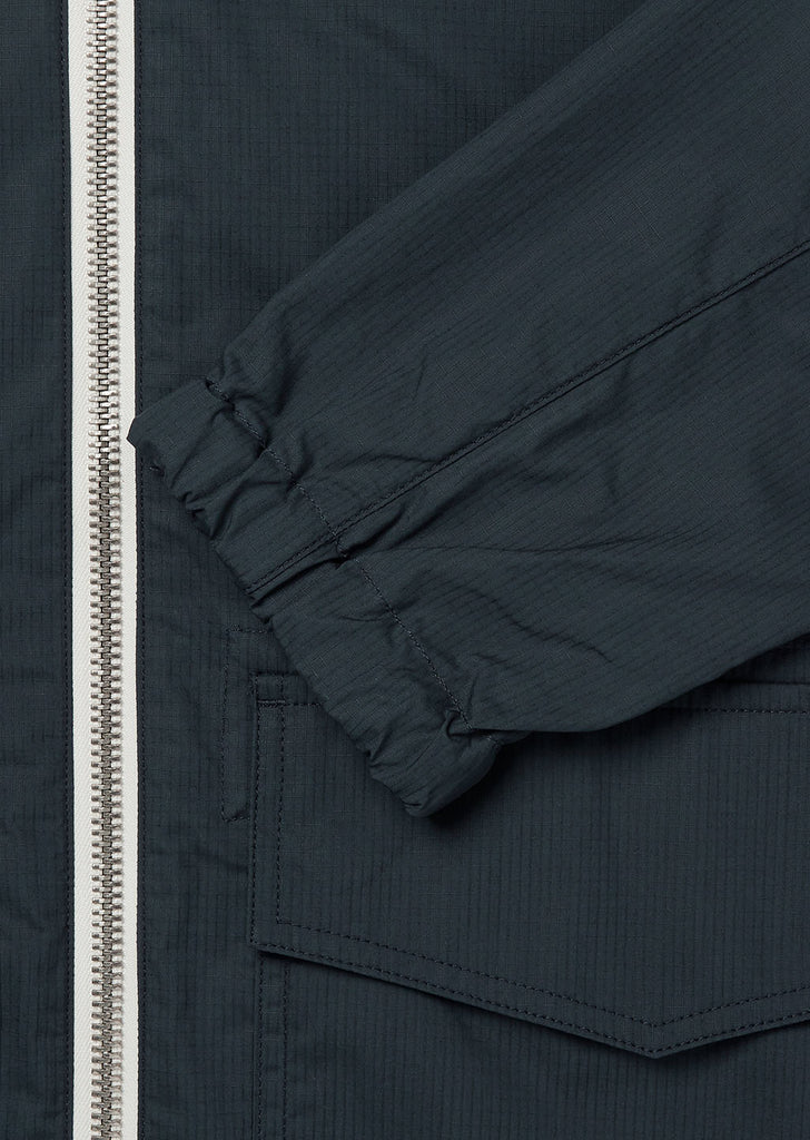 Cotton Ripstop Modern Cagoule in Navy