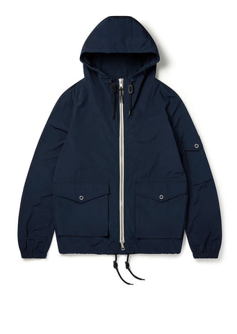 Drift Nylon Parka in Navy