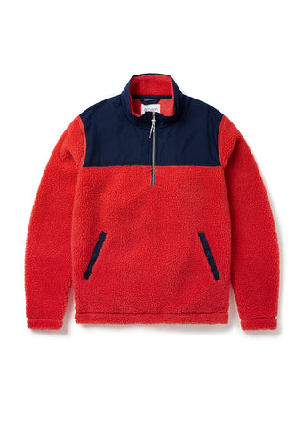 Causey Fleece Pullover in Faded Scarlett