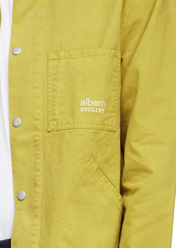 Utility Twill Factory Work Jacket in Tobacco