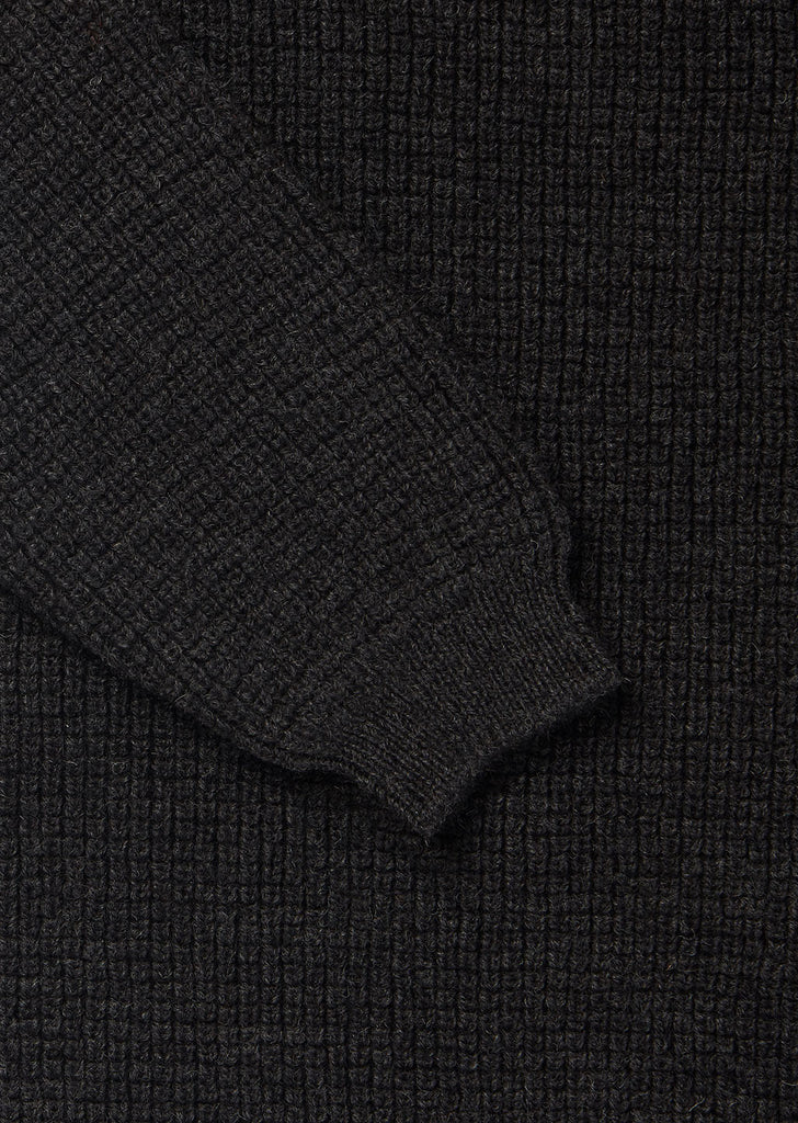 Tuck Rib Sweater in Charcoal