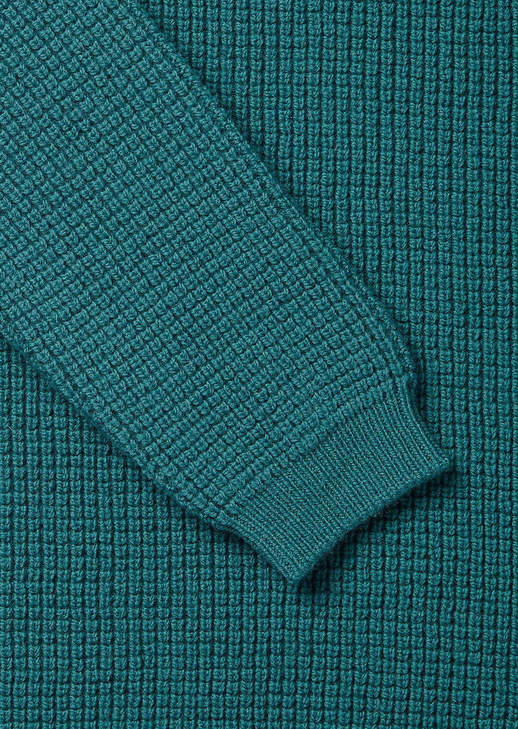 Tuck Rib Sweater in Green