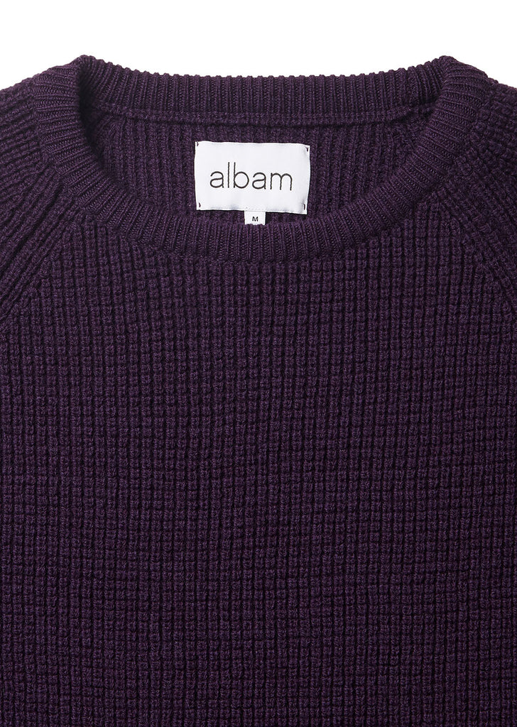 Tuck Rib Sweater in Purple